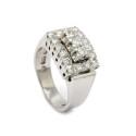 Klassiska 31/1, Nr: 35, RING, 18K vitguld, 19 briljantslipade diamanter 0,64 ctv enligt gravyr