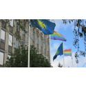 Solna stad regnbågsflaggar under Stockholm Pride