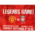 Manchester United Legends och Liverpool Football Club Legends gör upp på Friends Arena