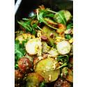 Rostad potatissallad med pistagepesto