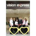 Vision Express Oldham celebrates the official opening of its newly refitted store during Macular Week 2015, following its 20th anniversary