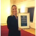 Christine Asciutto, läkare, Kvinnokliniken, Lund, utsedd till årets Eldsjäl av Nätverket mot gynekologisk cancer