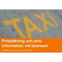 Uppföljande mätning angående prissättning och prisinformation vid taxiresor