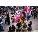 Musik og dans til fastelavn på Nationalmuseet