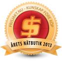 Prisjakt: Inet vinner Årets nätbutik 2013
