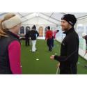 Unik gruppträning för golfproffs har startat i Golfhuvudstaden Halmstad