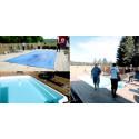 Byggnation av uteplats och pool i Bjästa