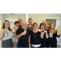 Centerpartiets distriktsstyrelse i Västerbotten skriver på för mjölken