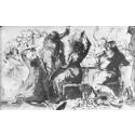 """A Splendid Dinner"", by renowned Swedish 18th century artist Johan Tobias Sergel."