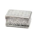 Smyckekvaliten 25/4, Nr: 26, ARVID FLOBERG, dosa, silver, graverad blomdekor, invändigt förgylld