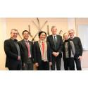 Vietnamesiska delegationen med svenska kollegor. Foto: Emelie Johnsson