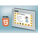 Industrial touch panels for web applications