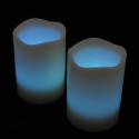 Blockljus med färgval och fjärr 3-pack-frilagd ljusblå