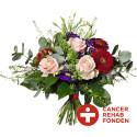 CancerRehabFonden-buketten, med logga