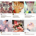 "Färgexplosion i Yves Rochers nagellacks-challenge ""Speaking Colors"""