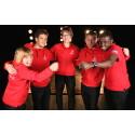 Fællesbillede af danske atleter til Special Olympics