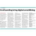 """""""Därför behövs en bred regional kraftsamling kring digitala omställningen"""""""