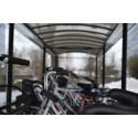 Pressvisning av ny cykelparkering vid Södra station, 6 november