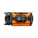 Ricoh WG-1M actionkamera orange från sidan