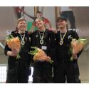 Final i SM för unga plåtslagare 2015: Vinnarna Sofia Sörliden, Viktor Wahrenberg och Albin Ählman