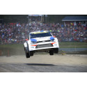 Med hopp om semifinal för Volkswagenkvartett i rallycross-VM i Höljes