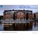 DN/Ipsos Betyget på regeringen och oppositionen: Regeringen Löfven tillträder med negativ förtroendebalans