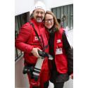 Ulrika Årehed Kågström och fotograf Ibrahim Malla i Damaskus