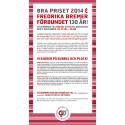 Välkommen att fira Bra priset 2014 och att Fredrika Bremer Förbundet fyller 130 år!