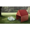 Arkitektritade gräsklipparhus & dess robotgräsklippare på auktion hos Lauritz.com