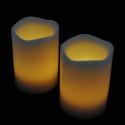 Blockljus med färgval och fjärr 3-pack-frilagd gula