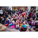 Udklædte børn til fastelavn på Nationalmuseet