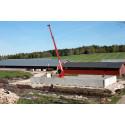 Första plansilon i den underhållsfria LLC-betongen är nu monterad