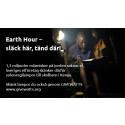Övik Energi tänder lampor för att uppmärksamma Earth Hour