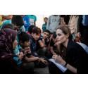 UNHCR SPECIAL ENVOY ANGELINA JOLIE IN JORDAN, VISITS SYRIAN BORDER