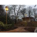 Ny belysning i Norre Katts park skapar vardagsrumskänsla
