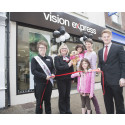 Young eye cancer survivor helps unveil new Vision Express store in Dorchester