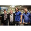 De första shoppingresenärerna från Norrland i luften