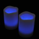 Blockljus med färgval och fjärr 3-pack-frilagd blå