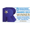 ID Medical crowned 'Best Recruitment Company to Work for' at Recruitment International Awards 2013