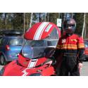 Ny förare testkör LTU-studenternas röda Baldosbil