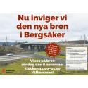 Pressinbjudan: Invigning av nya Bergsåkersbron – söndag 8 november