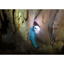 Meighan Boyd i Alepotrypa-grottan. Foto: Giorgos Maneas
