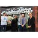 New Look Vision Express in Selby Officially Opened by Local Eye Cancer Survivor