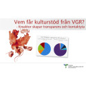 Vem får kulturstöd från VGR? - Kreaktor skapar transparens och kontaktyta