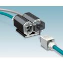 EMC-skyddad koppling för kraft och data med Push-Pull kontakt