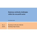 Business continuity challenges within the non-profit sector