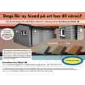 Underhållsfri fasadpanel i träkomposit för miljöhus är en bra lösning!