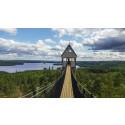 Hängbro i världsklass på Little Rock Lake Zipline i Småland
