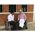 Överlevare på besök från Nepal
