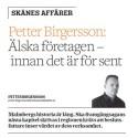 Malmberg i Kristianstadbladet